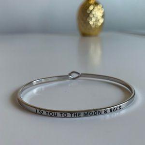 Bangle Message Bracelet I Love You To The Moon